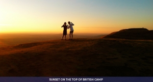 With acknowledgement to sunset-british-camp-www.amazingview.co.uk