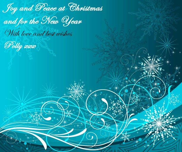 CHRISTMAS SCROLLS BLUE